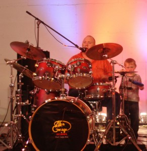 Danny Gadacz with the next upcoming Drummer his son Bryar